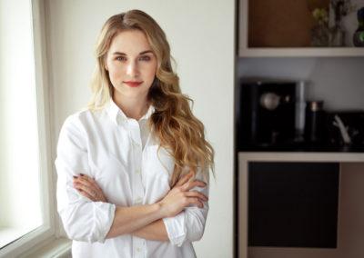 Portrét Terezy Salte z business focení pro Elite Bloggers