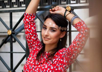 Letní princeznovské módní focení ve spolupráci s vizážistkou.